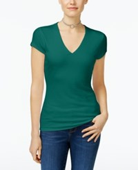 Inc International Concepts Ribbed V Neck Top Only At Macy's Indian Teal