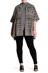 Lucky Brand Hooded Poncho Sweater Plus Size Multi