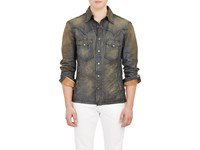 Ralph Lauren Black Label Men's Distressed Western Style Jacket Blue