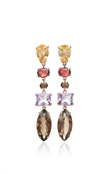Alasia Anemoni Drop Earrings Purple