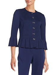 St. John Bell Sleeve Peplum Jacket Ink