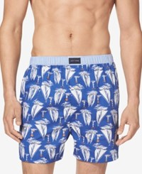 Tommy Hilfiger Men's Woven Boxers Yacht Club Blue