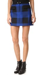 Rag And Bone Cybil Skirt Blue Buffalo Plaid