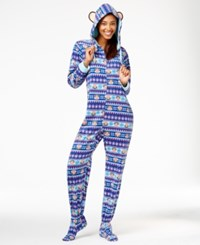 Paul Frank Julius Hooded Footed Jumpsuit Navy Fairisle