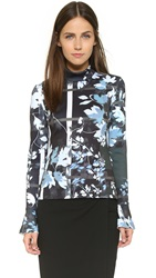 Clover Canyon Fall Leaves Top Blue