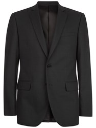 Jaeger Wool Pick And Pick Slim Jacket Charcoal