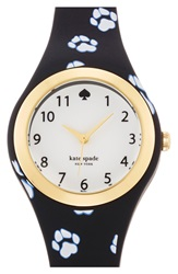 Kate Spade 'Rumsey' Plastic Strap Watch 30Mm Black White