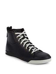 Diesel Tempus Diamond Leather High Top Sneakers Black