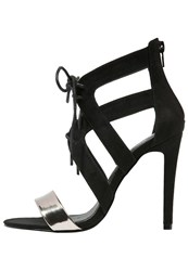 Evenandodd Sandals Gunmetal Black