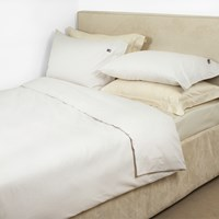Lexington Pinpoint Duvet Cover Beige White Single