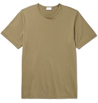 Handvaerk Pima Cotton Jersey T Shirt Green