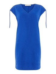 Oui Sleeve Detail Shift Dress Blue