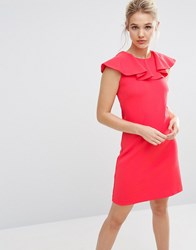 Ted Baker Frill Detail Dress Coral Pink