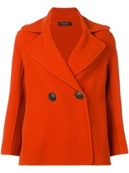 Antonelli Double Breasted Coat Red