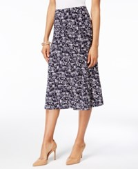 Jm Collection Petite Geo Print Jacquard A Line Skirt Only At Macy's Geo Melt
