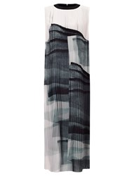 John Lewis Kin By Limited Edition Pleated Print Dress Black White