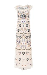 Needle And Thread Petal Pink Butterfly Garden Maxi Dress Light Pink