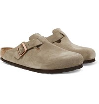 Birkenstock Boston Suede Sandals Sand