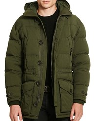 Polo Ralph Lauren Twill Down Parka Corduroy Green