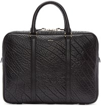 Paul Smith Black Bull Hide Leather Briefcase