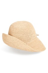 Helen Kaminski Women's 'Provence 10' Packable Raffia Hat Brown Nougat