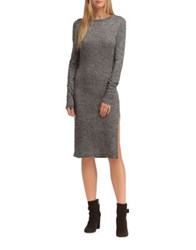 Walter Baker Trixie Long Sleeve Cotton Dress Heather Grey