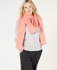 Charter Club Pure Cashmere Oversized Scarf Watermelon Sorbet