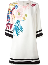 Etro Stripe And Flower Print Dress White