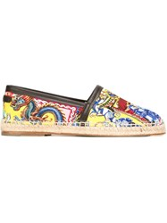 Dolce And Gabbana Carretto Siciliano Print Espadrilles Multicolour