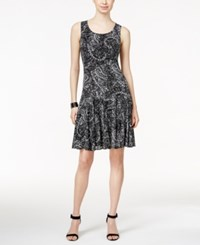 Styleandco. Style And Co. Printed A Line Dress Only At Macy's Midnight Paisley