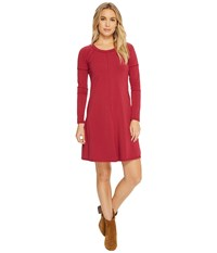 Alternative Apparel Cotton Modal Spandex Party Time Dress Holly Red