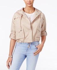 American Rag Cropped Cargo Jacket Only At Macy's Oxford Tan