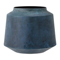 Bloomingville Metal Vase Blue 15Cm