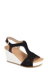 Women's Dr. Scholl's 'Original Collection Wiley' Wedge Sandal Black Knit