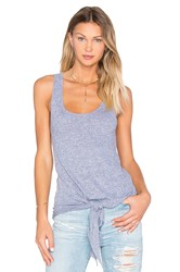 Monrow Granite Novelty Tie Front Tank Gray