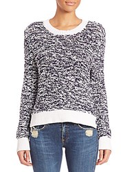 Rag And Bone Crewneck Sweater Navy White