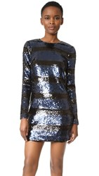 Veronica Beard Avenue Mini Dress Black Blue