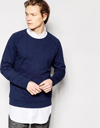Weekday Crew Sweatshirt Paris Neps Navy