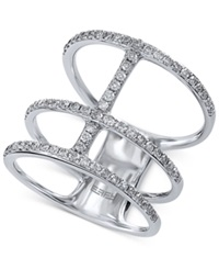 Effy Collection Effy Diamond Stacked Midi Ring 5 8 Ct. T.W. In 14K White Gold