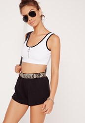 Missguided Zip Front Contrast Bralet White White