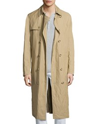 Michael Kors Inox Lightweight Trench Coat Khaki Women's