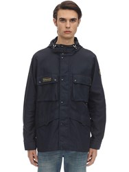 Belstaff Dual Hooded Nylon Parka Jacket Dark Ink