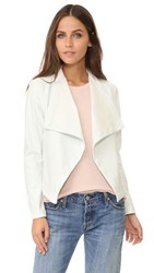 Bb Dakota Peppin Vegan Leather Drapey Jacket Dirty White