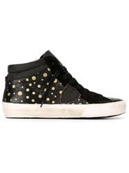 Philippe Model Polka Dot Hi Top Sneakers Black