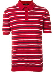 Roberto Collina Terry Towelling Polo Shirt Red
