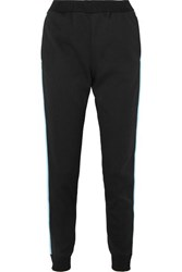 Prada Striped Tech Jersey Track Pants Black