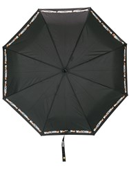 Moschino Teddy Bear Print Umbrella Black