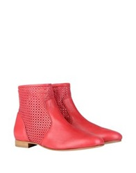 George J. Love Ankle Boots Coral