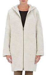 Atm Anthony Thomas Melillo Women's Hooded Cocoon Coat Brown