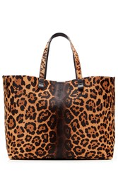 Victoria Beckham Simple Shopper Printed Calf Hair Tote Animal Prints